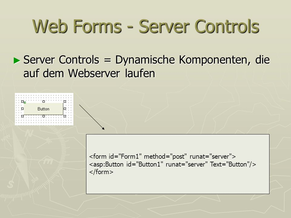 Web Forms - Server Controls