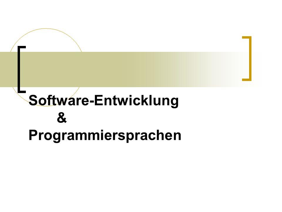 Software-Entwicklung & Programmiersprachen