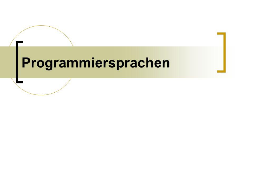 Programmiersprachen