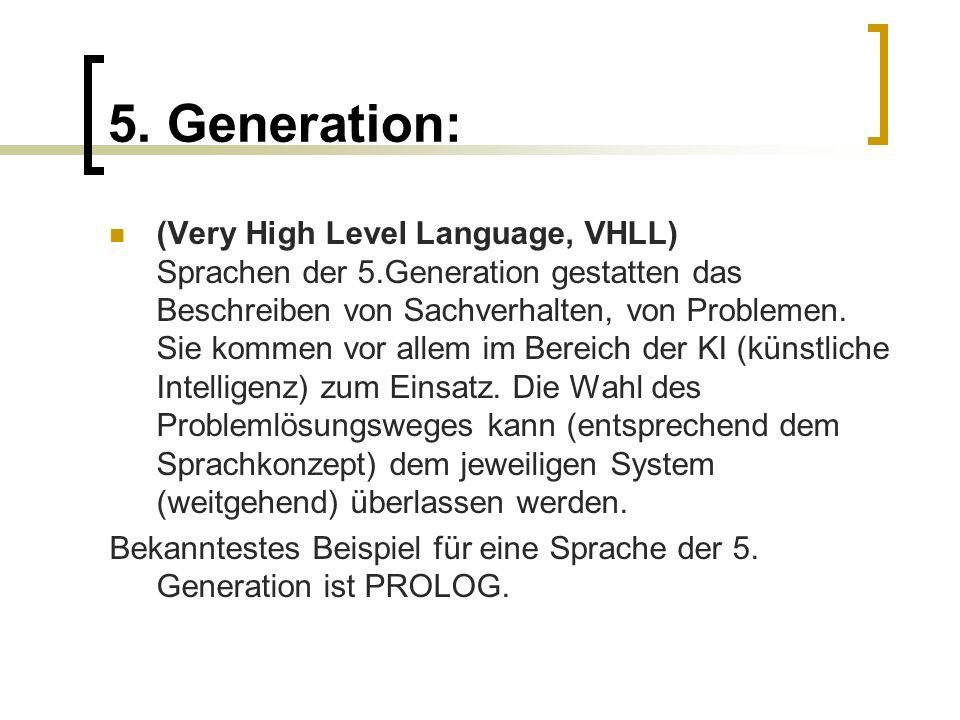 5. Generation: