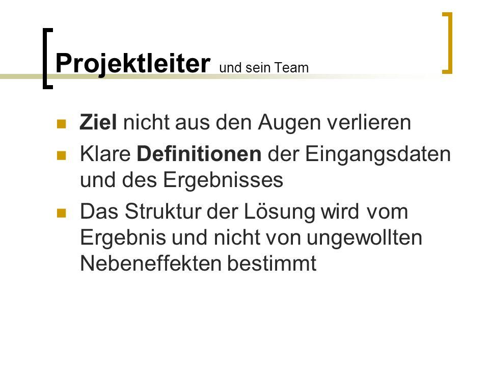 Projektleiter und sein Team