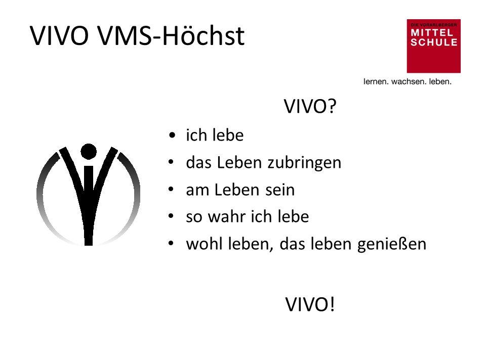 VIVO VMS-Höchst VIVO VIVO! ich lebe das Leben zubringen am Leben sein