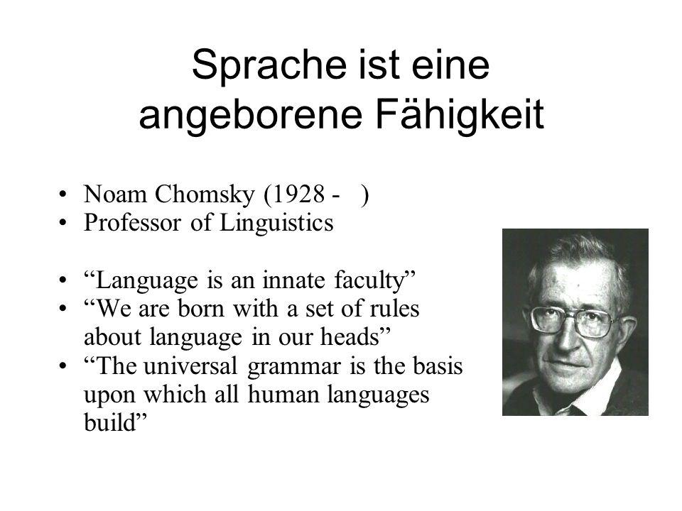 Sprache ist eine angeborene Fähigkeit