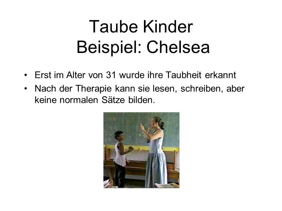 Taube Kinder Beispiel: Chelsea