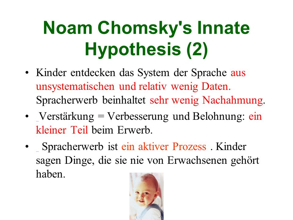 Noam Chomsky s Innate Hypothesis (2)