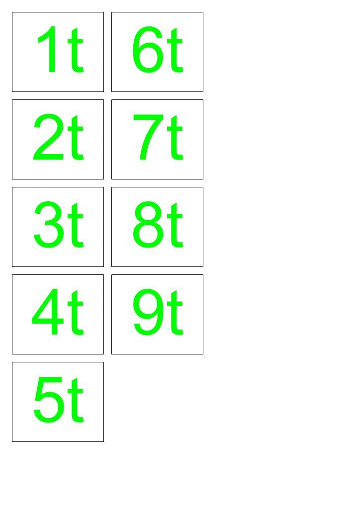 1t 6t 2t 7t 3t 8t 4t 9t 5t