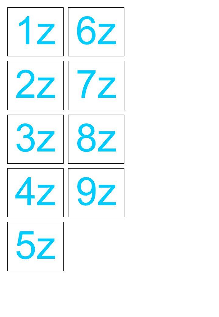 1z 6z 2z 7z 3z 8z 4z 9z 5z