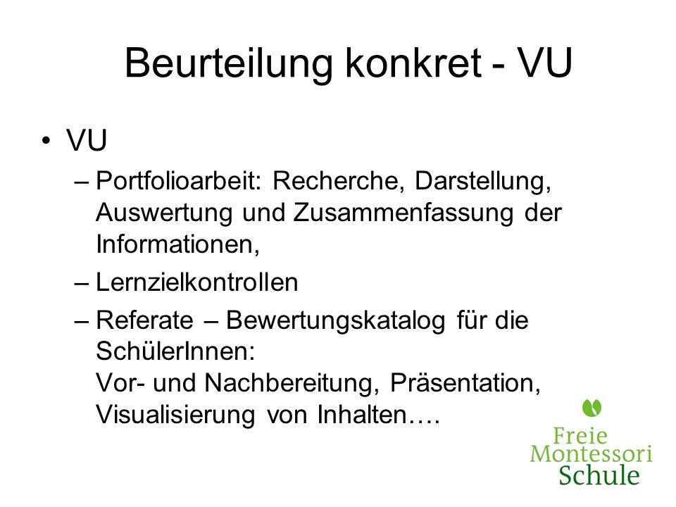 Beurteilung konkret - VU