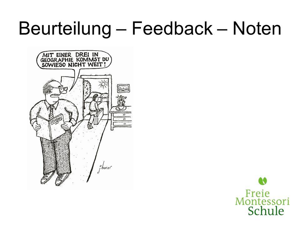 Beurteilung – Feedback – Noten