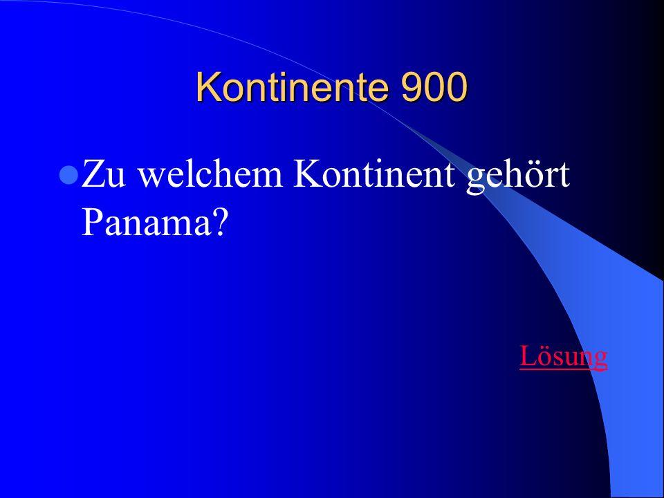Zu welchem Kontinent gehört Panama