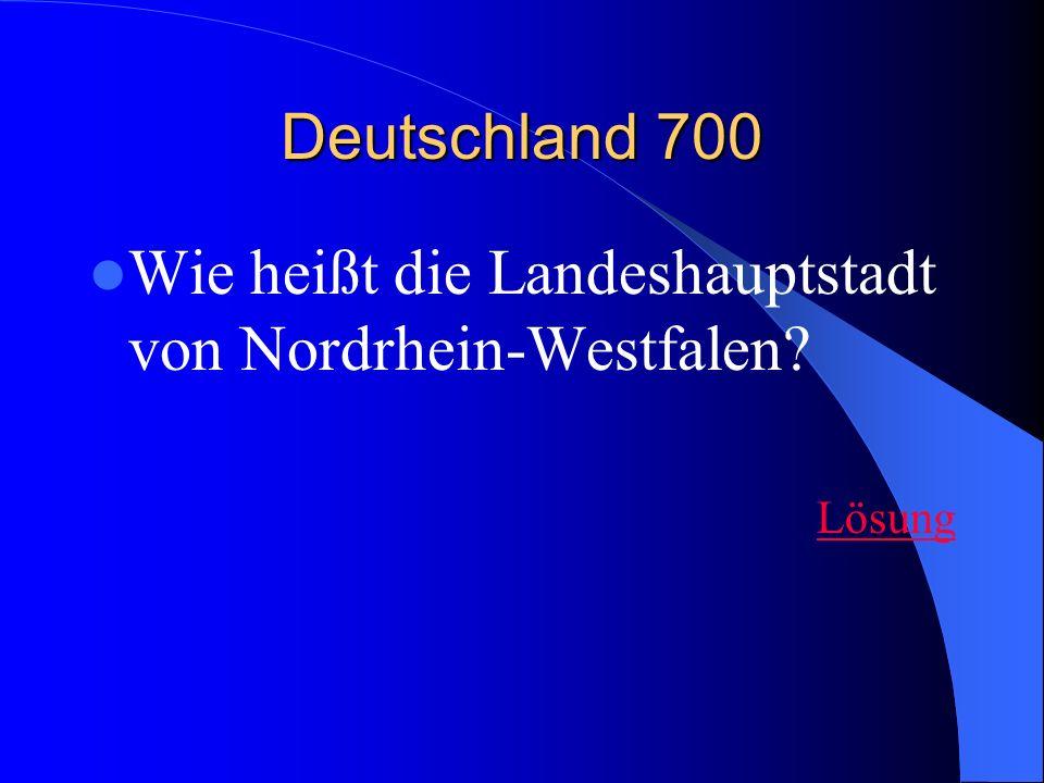 Wie heißt die Landeshauptstadt von Nordrhein-Westfalen