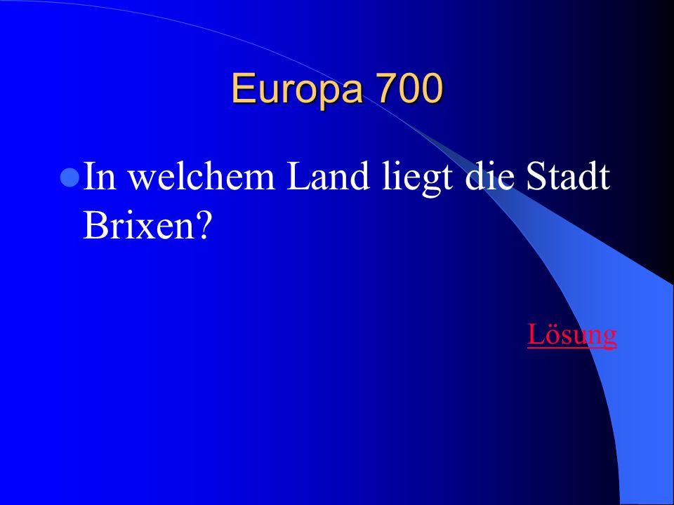 In welchem Land liegt die Stadt Brixen