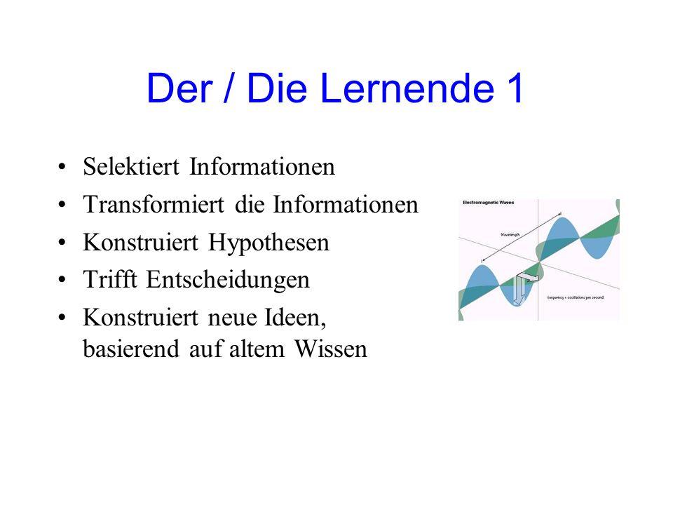 Der / Die Lernende 1 Selektiert Informationen