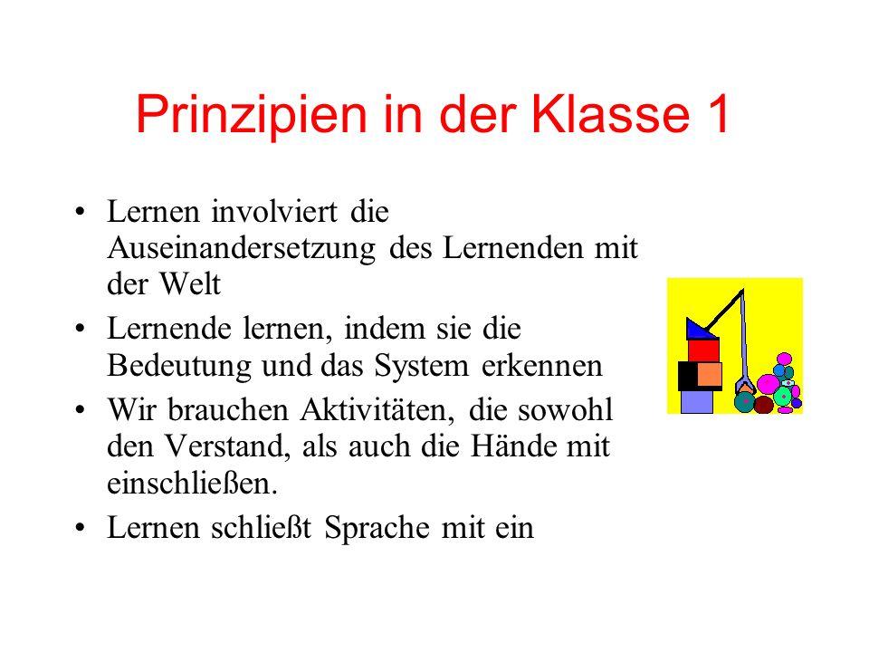 Prinzipien in der Klasse 1