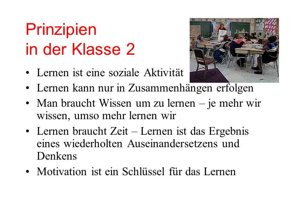 Prinzipien in der Klasse 2