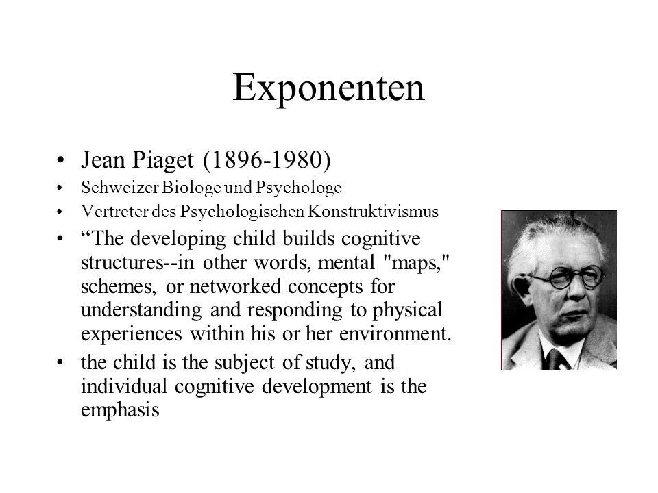 Exponenten Jean Piaget (1896-1980)