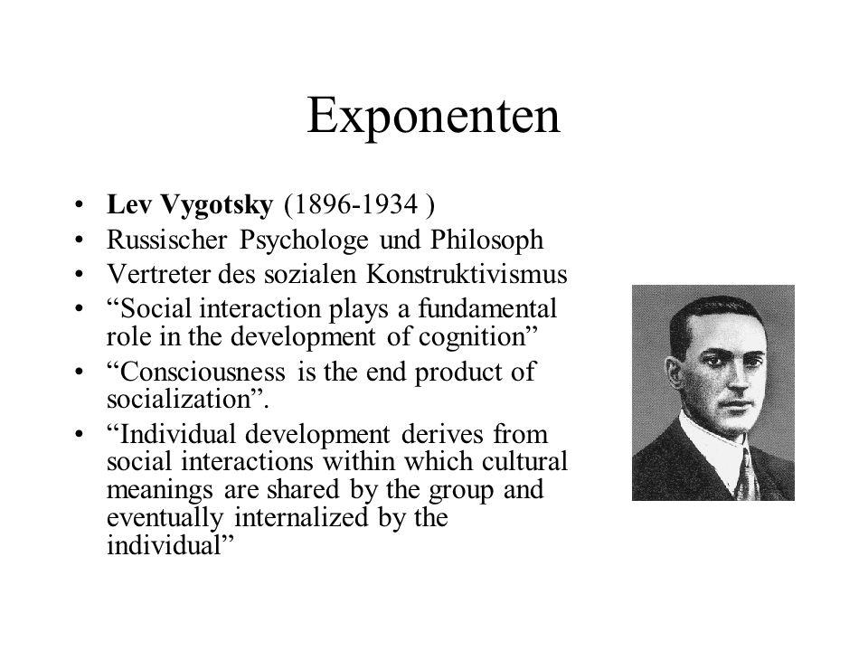 Exponenten Lev Vygotsky (1896-1934 )