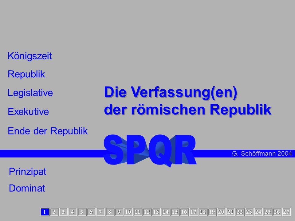 Intro Die Verfassung(en) der römischen Republik SPQR Königszeit