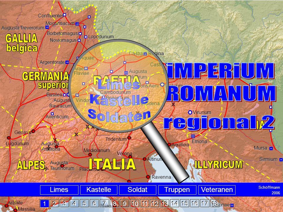 Intro iMPERiUM ROMANUM regional 2 Limes Kastelle Soldaten belgica