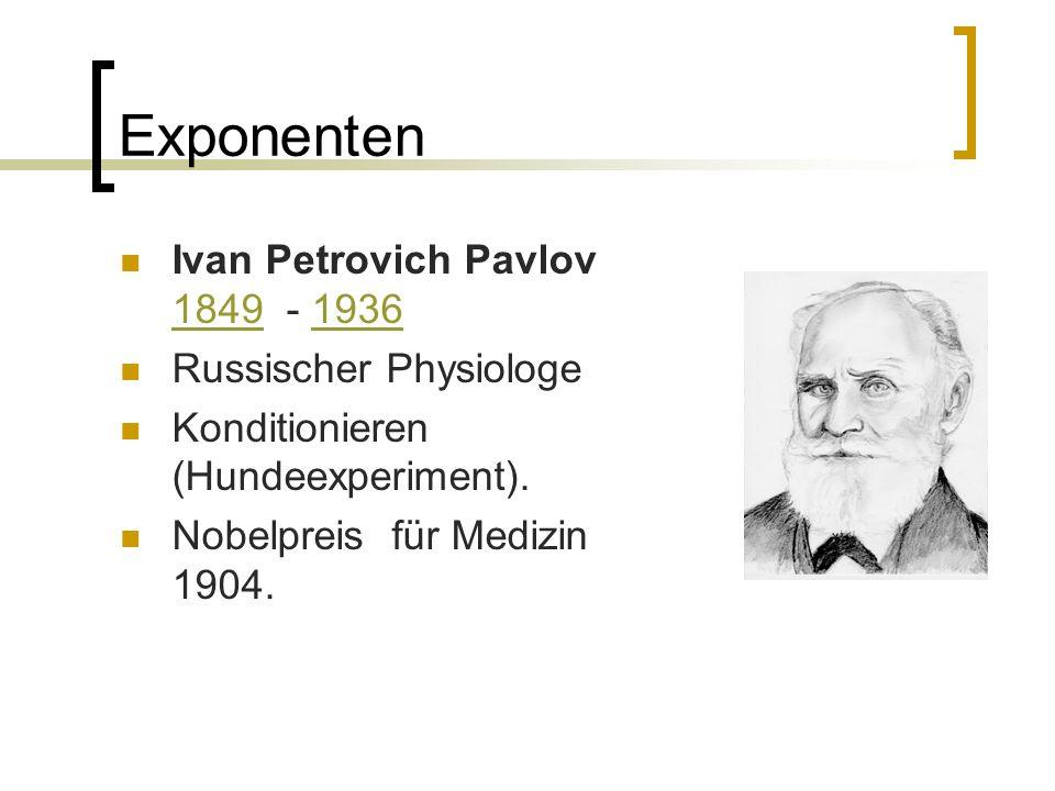 Exponenten Ivan Petrovich Pavlov 1849 - 1936 Russischer Physiologe