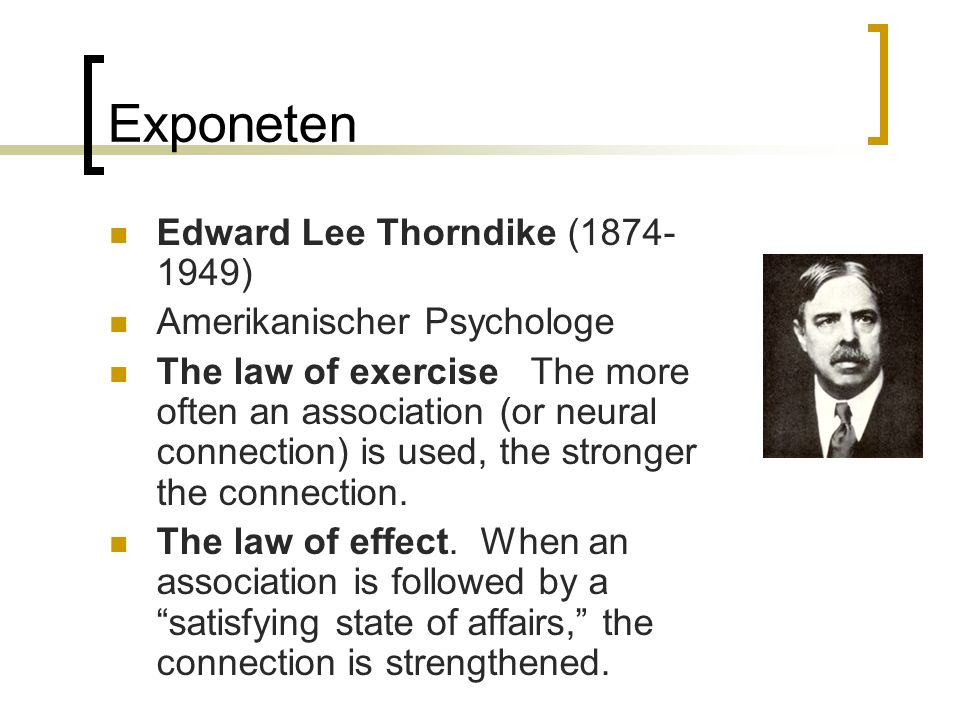 Exponeten Edward Lee Thorndike (1874-1949) Amerikanischer Psychologe