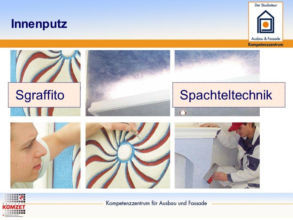 Innenputz Sgraffito Spachteltechnik