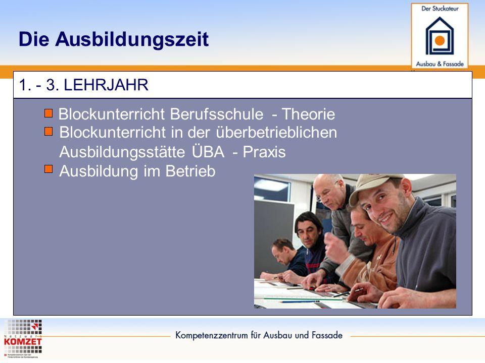 Die Ausbildungszeit 1. - 3. LEHRJAHR