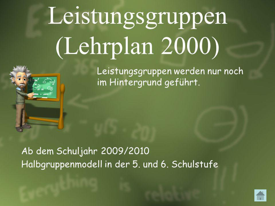 Leistungsgruppen (Lehrplan 2000)