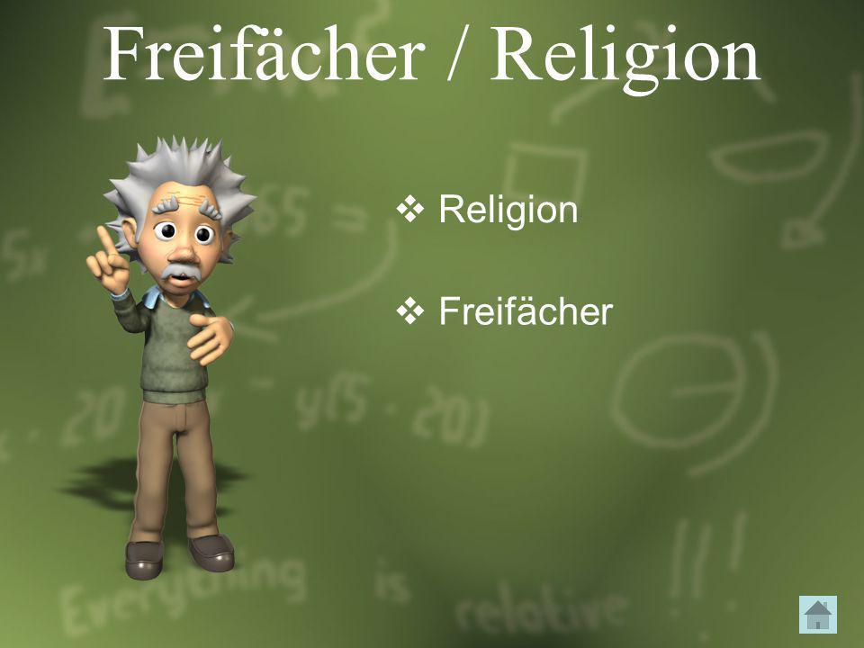 Freifächer / Religion Religion Freifächer