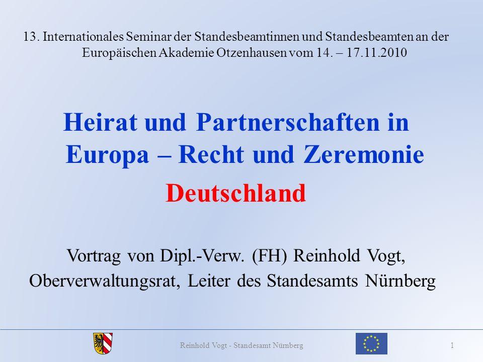Heirat und Partnerschaften in Europa – Recht und Zeremonie