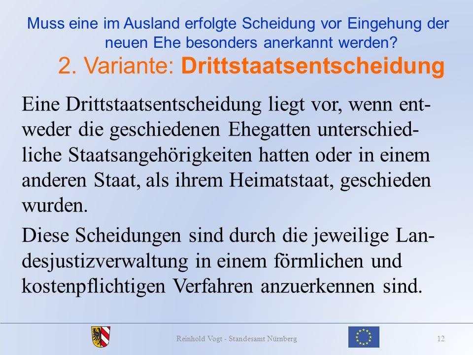 Reinhold Vogt - Standesamt Nürnberg