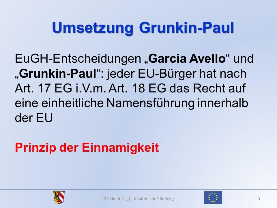 Umsetzung Grunkin-Paul