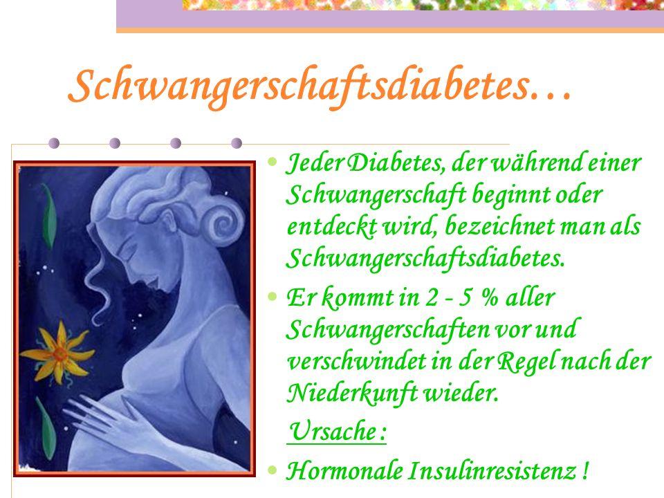 Schwangerschaftsdiabetes…