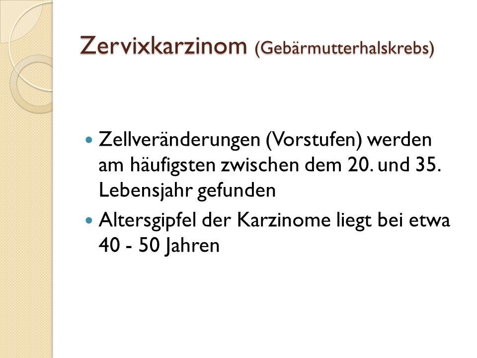 Zervixkarzinom (Gebärmutterhalskrebs)