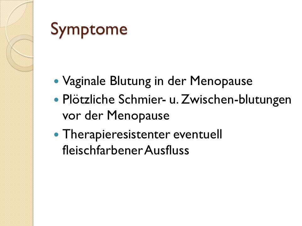Symptome Vaginale Blutung in der Menopause