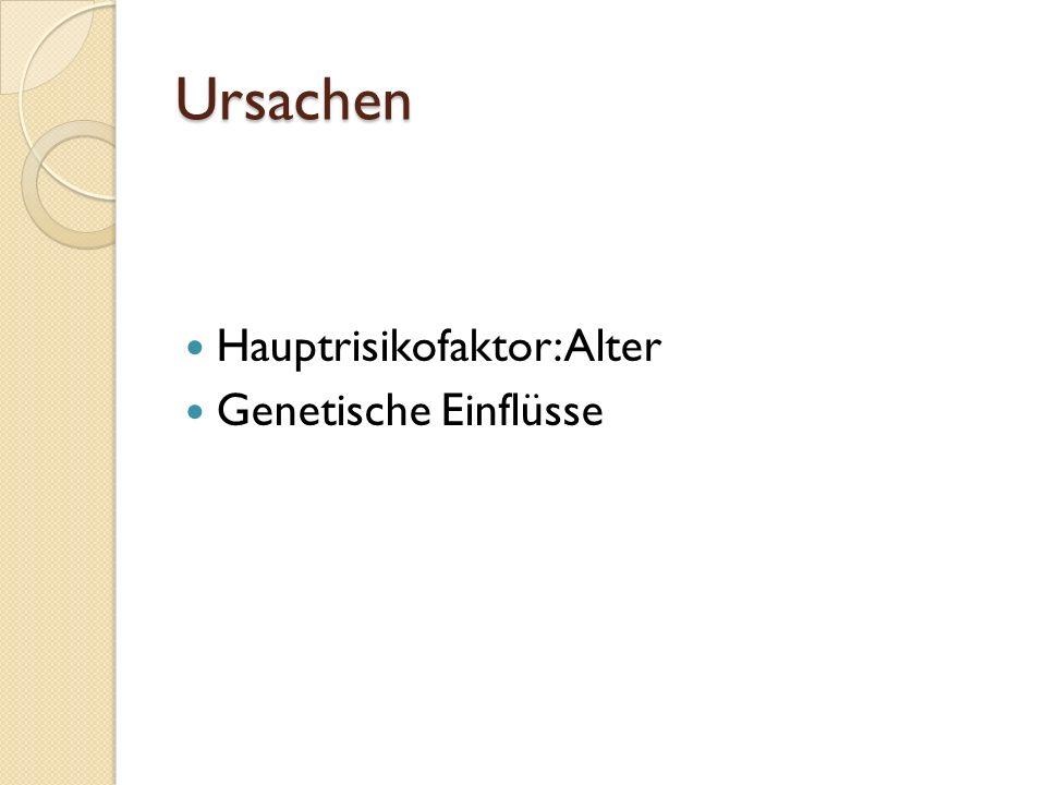 Ursachen Hauptrisikofaktor: Alter Genetische Einflüsse
