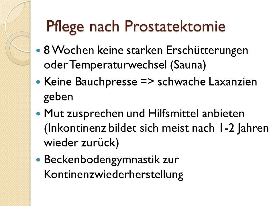 Pflege nach Prostatektomie