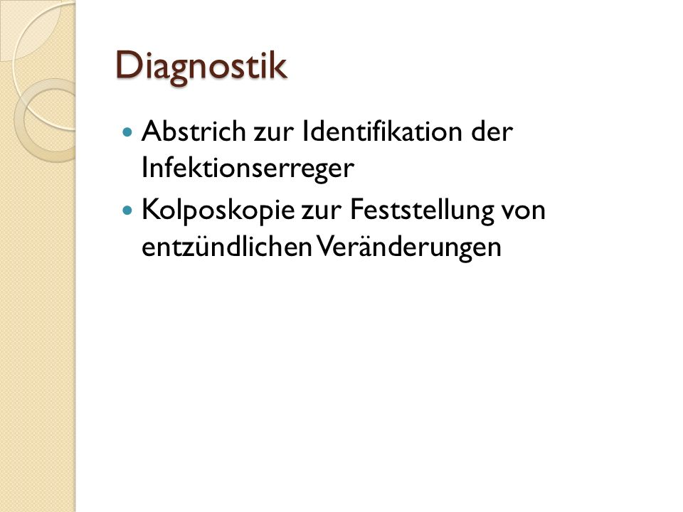 Diagnostik Abstrich zur Identifikation der Infektionserreger