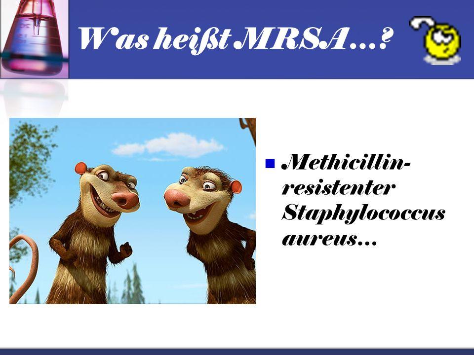 Was heißt MRSA… Methicillin-resistenter Staphylococcus aureus…