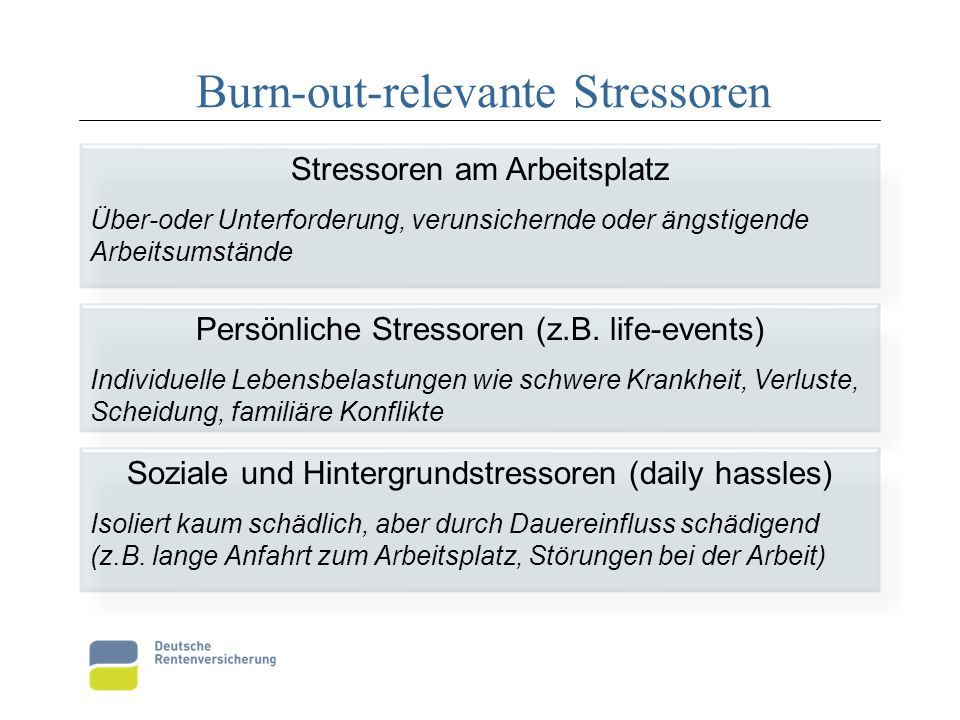 Burn-out-relevante Stressoren