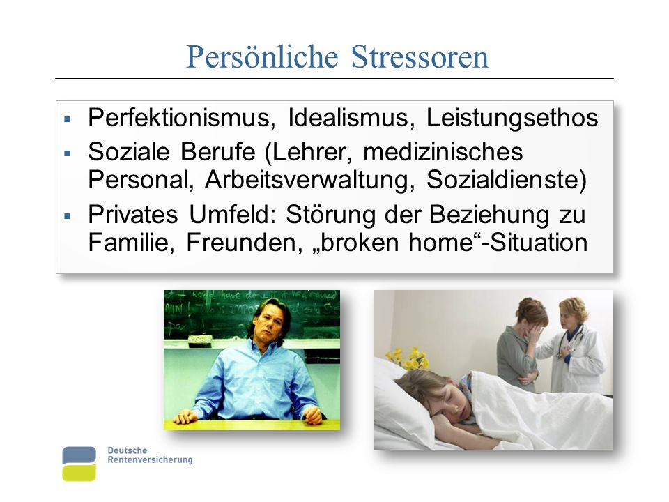 Persönliche Stressoren