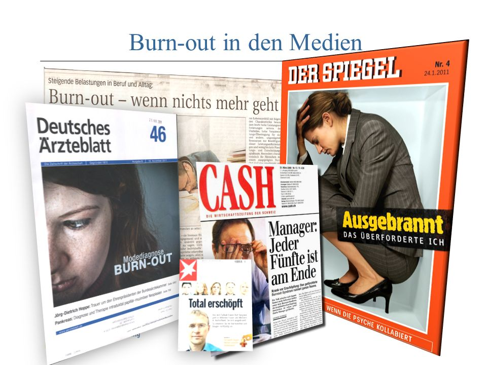 Burn-out in den Medien Soziale Ebene psychische Ebene