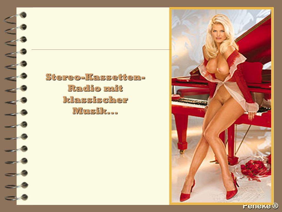 Stereo-Kassetten-Radio mit klassischer Musik...