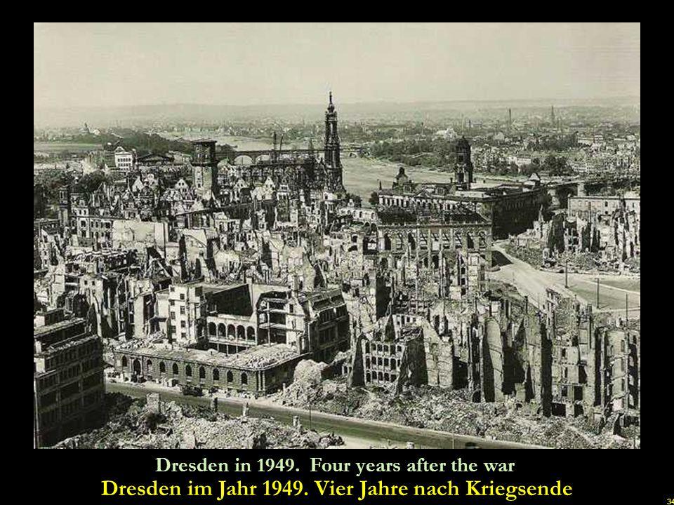 Dresden im Jahr 1949. Vier Jahre nach Kriegsende