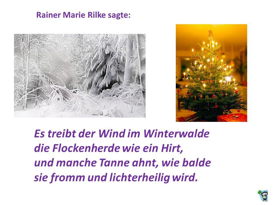 Rainer Marie Rilke sagte: