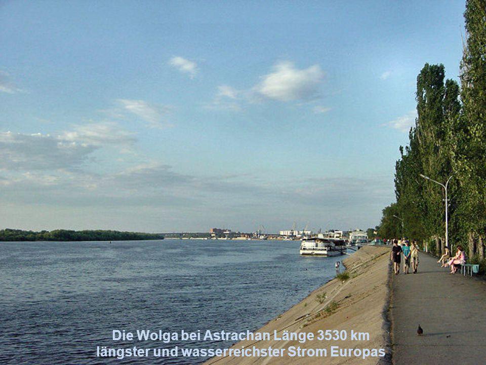 Die Wolga bei Astrachan Länge 3530 km