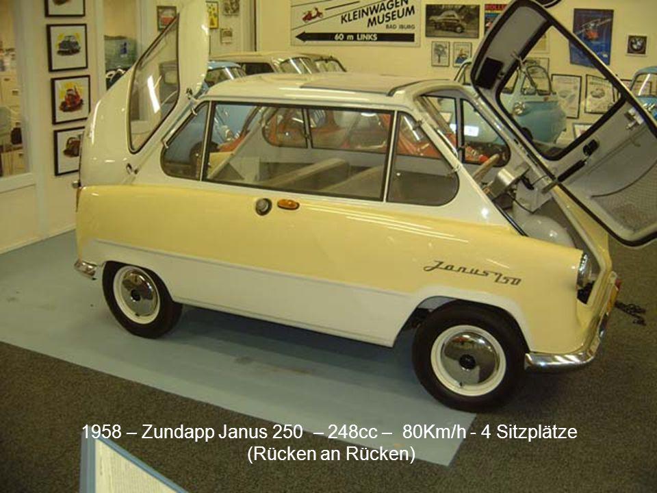 1958 – Zundapp Janus 250 – 248cc – 80Km/h - 4 Sitzplätze
