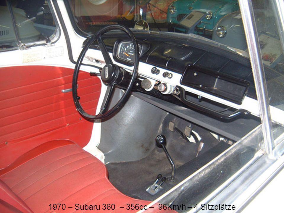 1970 – Subaru 360 – 356cc – 96Km/h – 4 Sitzplätze