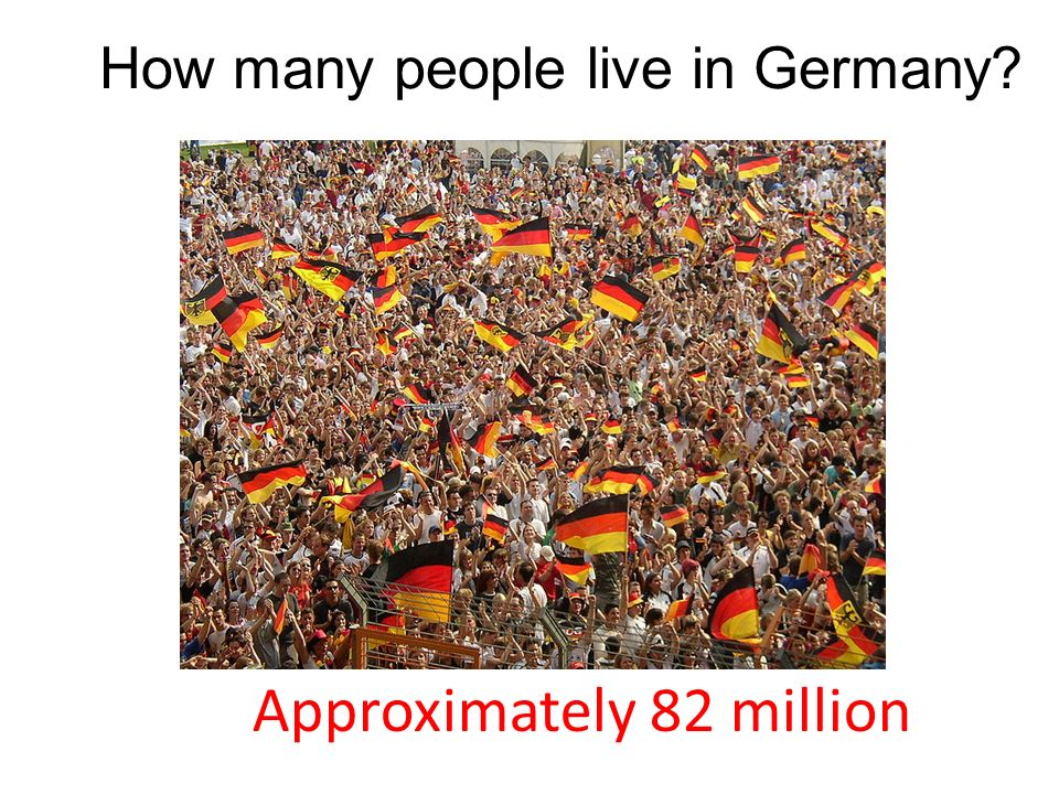How many people live in Germany