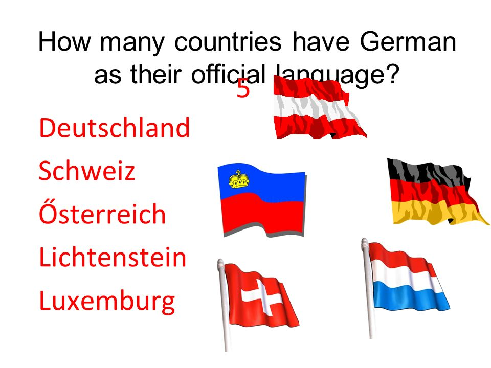 How many countries have German as their official language
